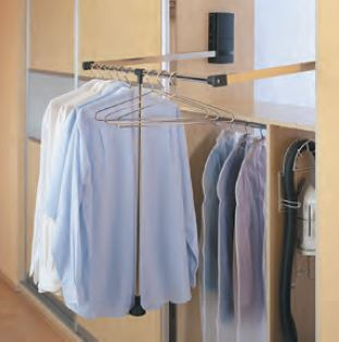 pull down clothes hangar