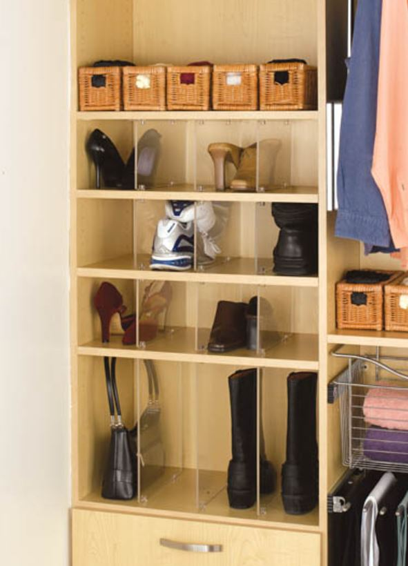 Shoe Organizer Acrylic Dividers