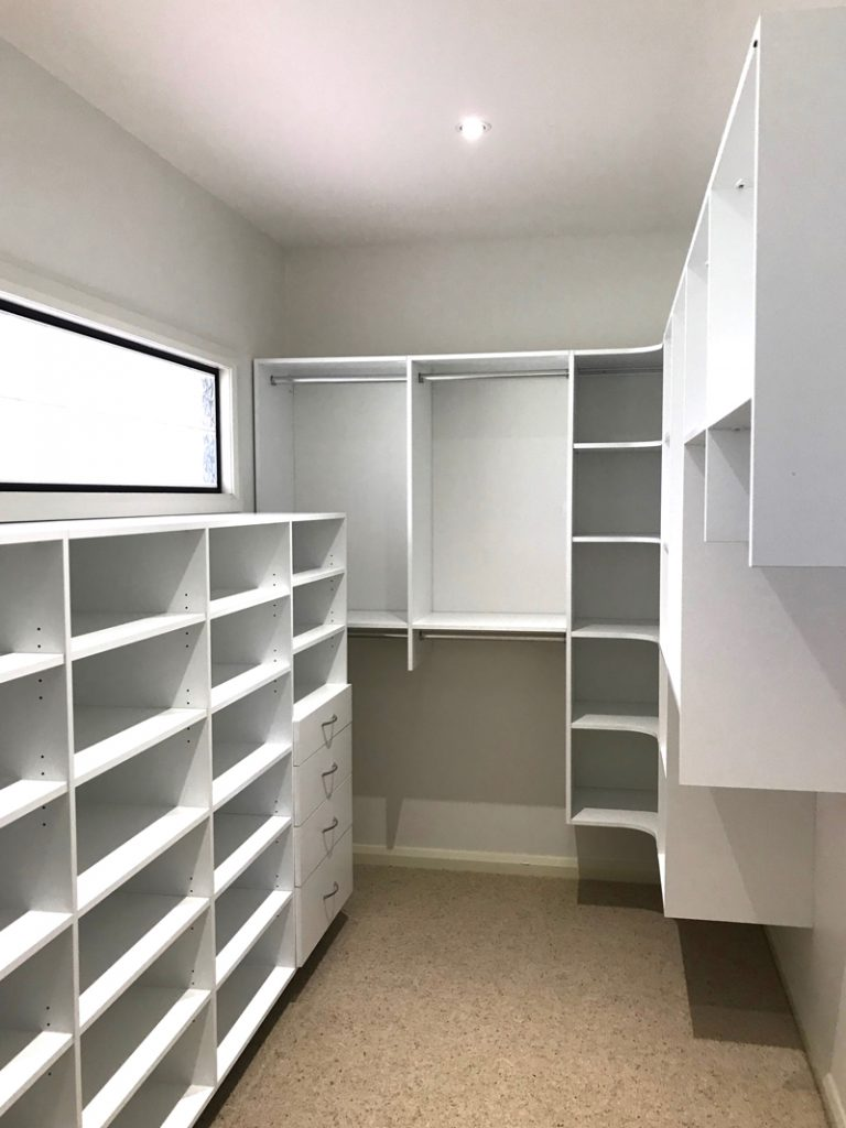 white wardrobe install