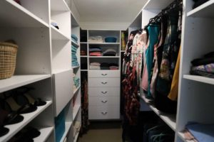 full walk in wardrobe