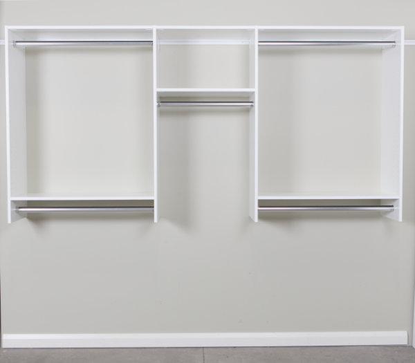 reach in wardrobe no shelves