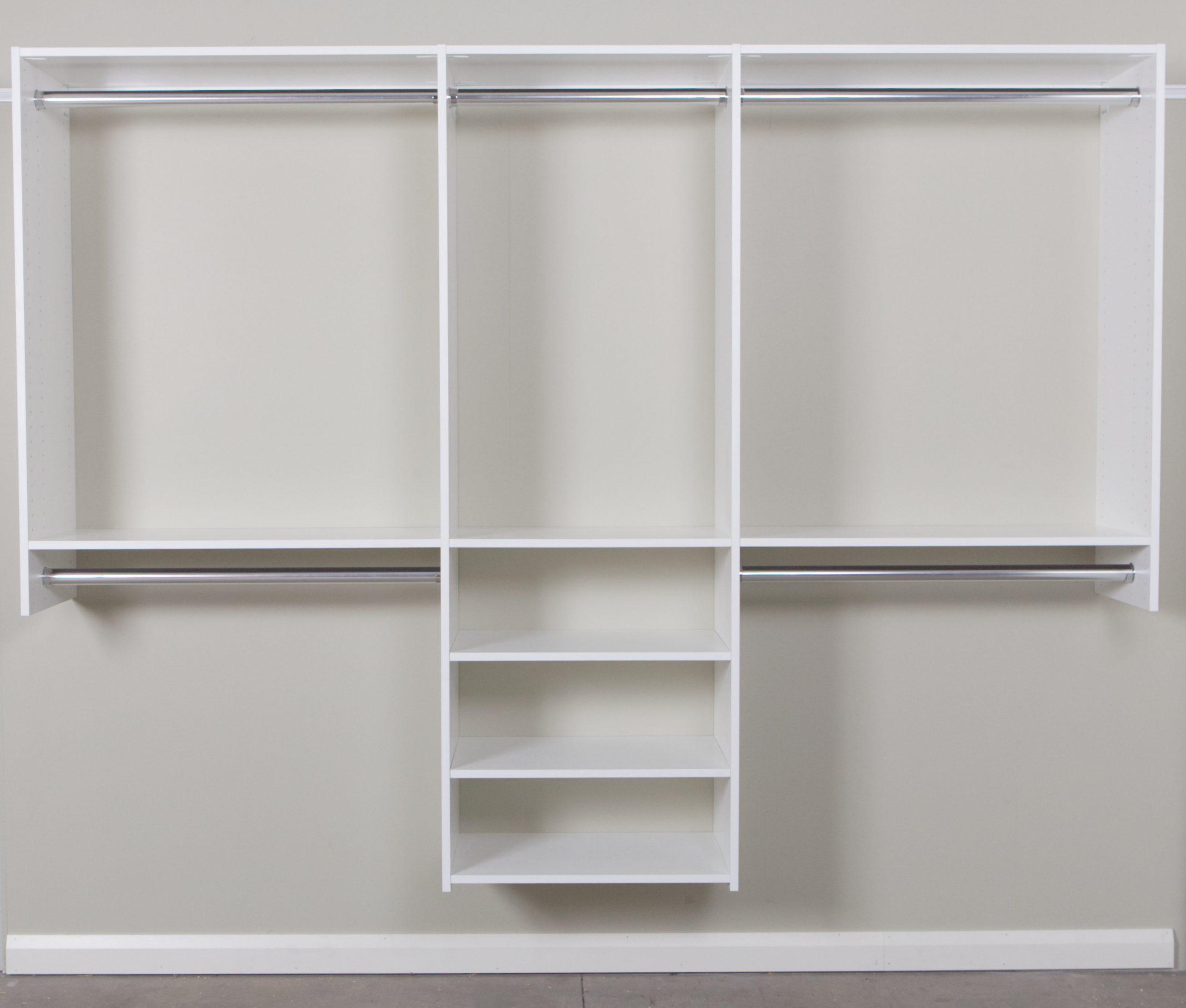 reach in wardrobe three shelves
