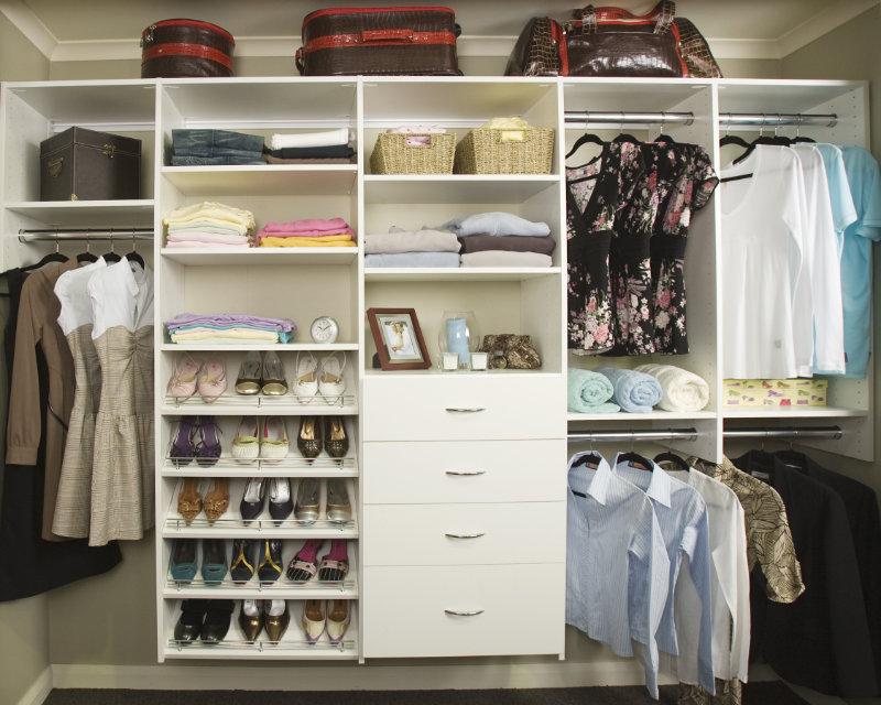 reach in wardrobe installed