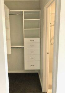 smaller walk in wardrobe