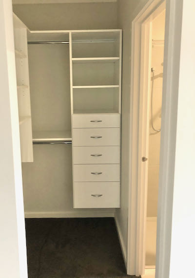 smaller walk in wardrobe