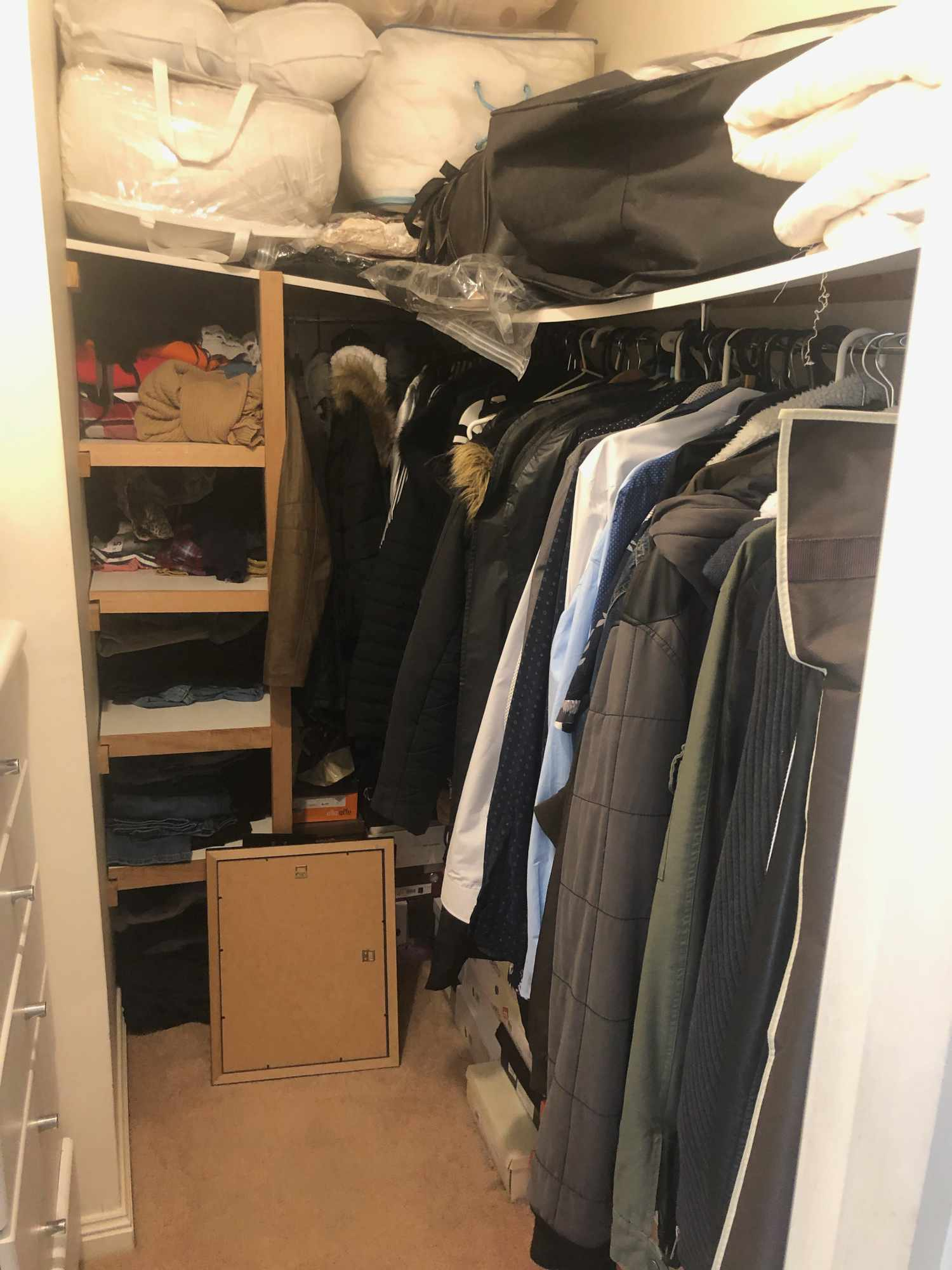 walk in wardrobe before shot